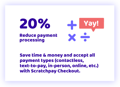 20% reduced payment processing