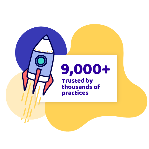 8,000+ Trusted by thousands of practices